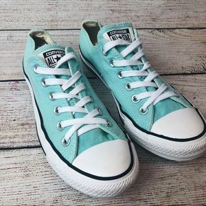 Converse All Star Low Tops in Turquoise